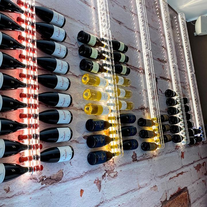 porta bottiglie muro