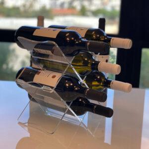 porta bottiglie trasparente in plexiglass